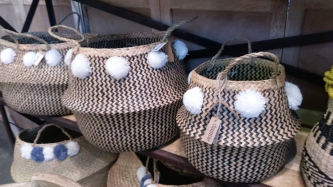 Pompom baskets