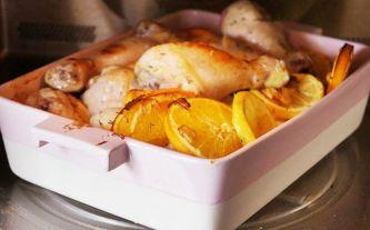 Zomerse kip uit de oven